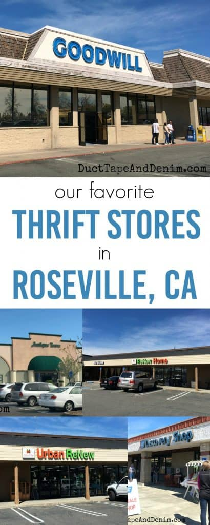 Our favorite Roseville thrift stores. Thrifting in Roseville, California. DuctTapeAndDenim.com