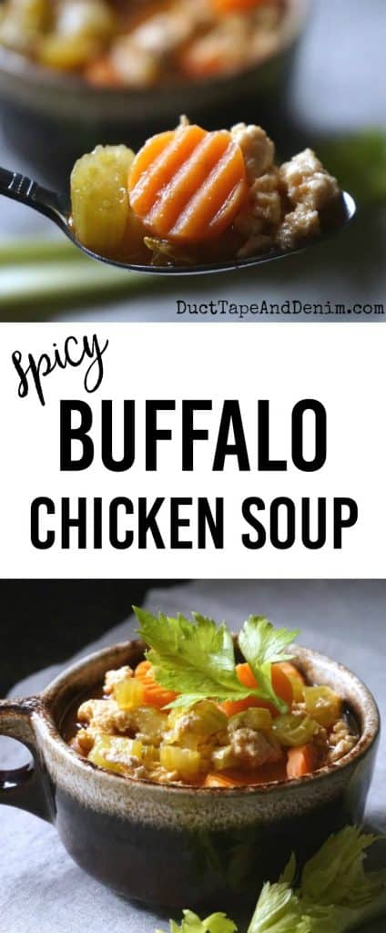 Spicy Buffalo Chicken Soup recipe | DuctTapeAndDenim.com