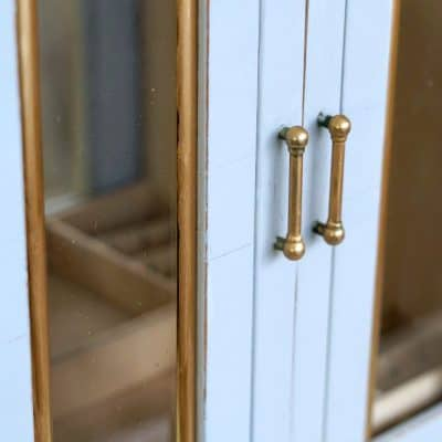 DIY Art Deco Jewelry Cabinet, Thrift Store Makeover