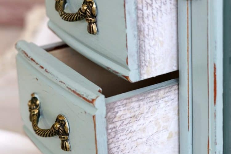 blue jewelry cabinet makeover SQUARE