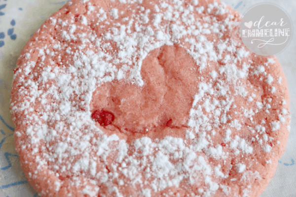 powdered-cake-mix-cookies-strawberry