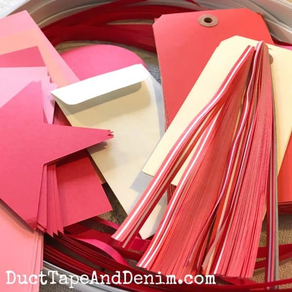 valentine paper crafts on DuctTapeAndDenim.com