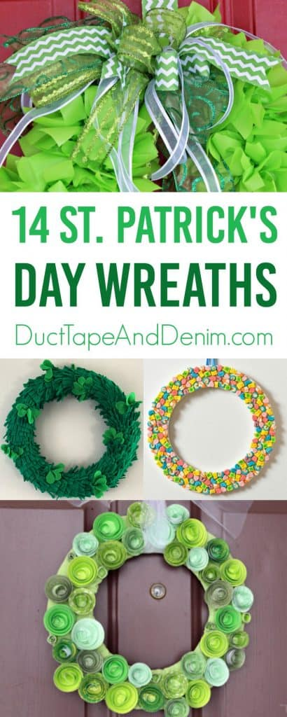 14 St Patrick's Day Wreath ideas to make on DuctTapeAndDenim.com