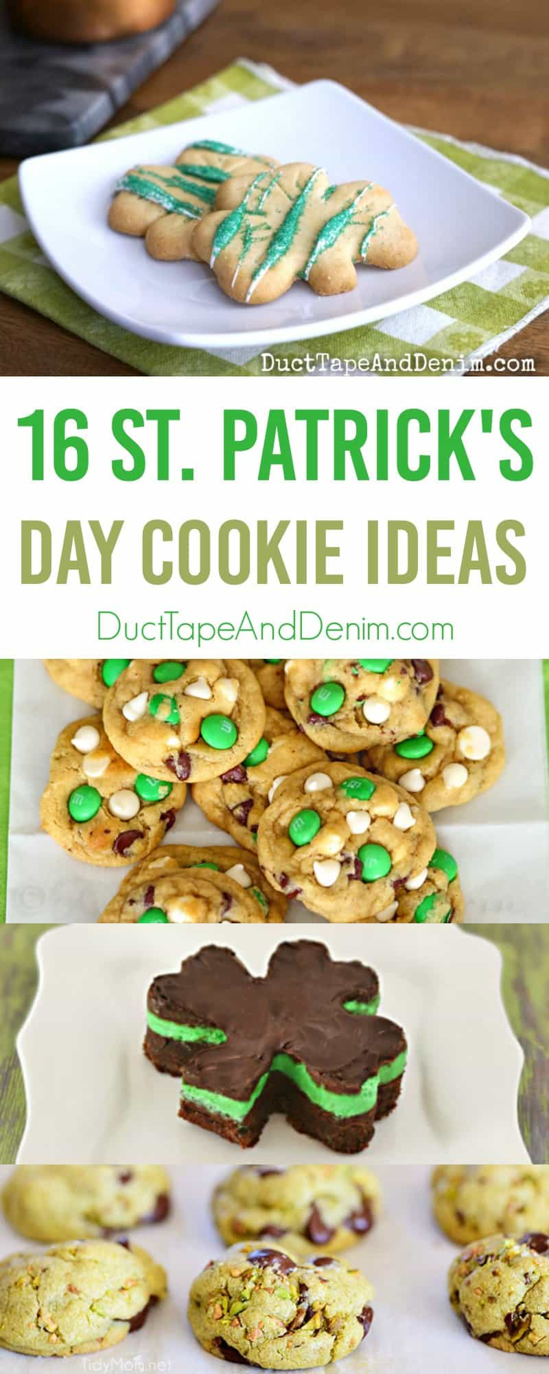 16 St Patrick's Day Cookie Ideas on DuctTapeAndDenim.com