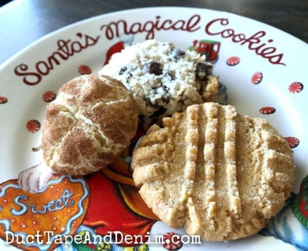 Christmas cookies - gluten free peanut butter cookies, snickerdoodles, almond joy cookies | DuctTapeAndDenim.com