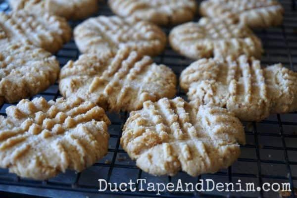 Easy gluten free peanut butter cookies, gluten free peanut butter cookie recipe | DuctTapeAndDenim.com