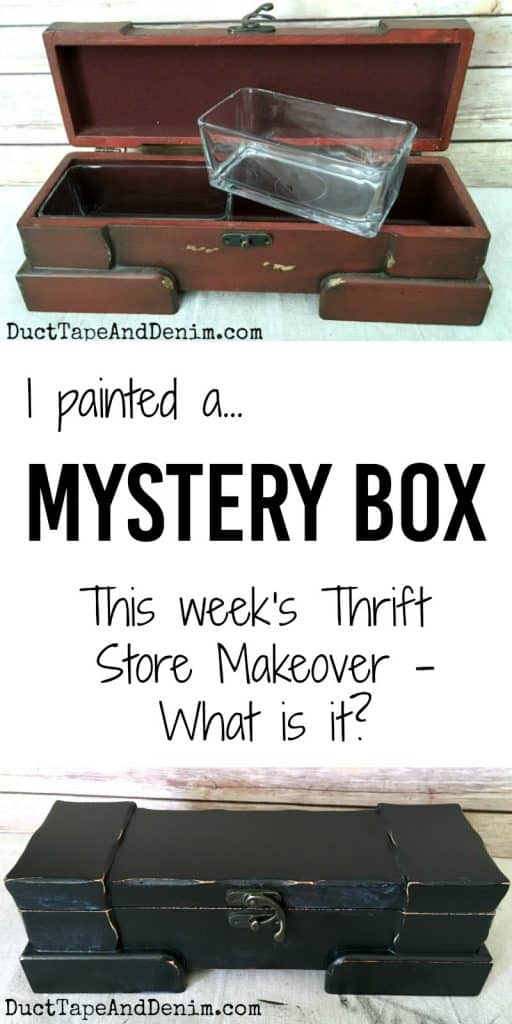 I painted a mystery box from the thrift store | DuctTapeAndDenim.com