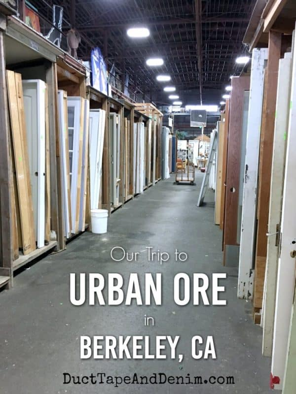 Our trip to Urban Ore thrift store in Berkeley, California | DuctTapeAndDenim.com