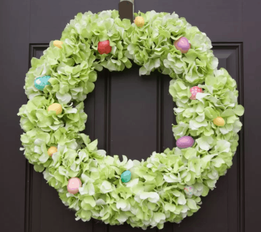 Hydrangea easter wreath