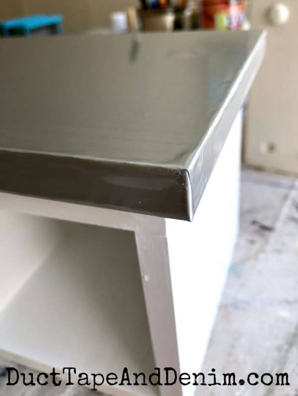 Stainless steel kitchen shelf | DuctTapeAndDenim.com