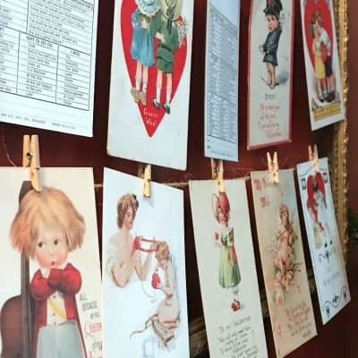 Vintage Valentine postcards SQUARE