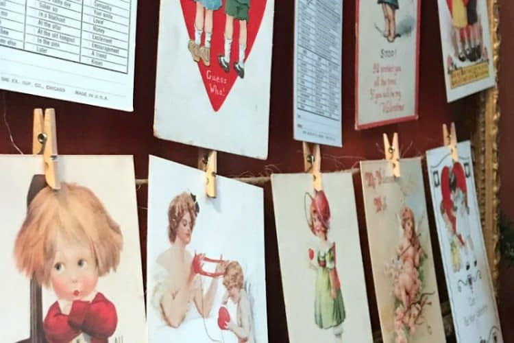 How to Display a Vintage Valentine Postcard Collection