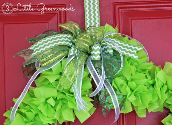 green shamrock wreath