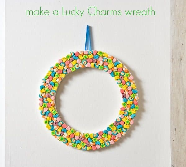 lucky charms wreath for st patricks day