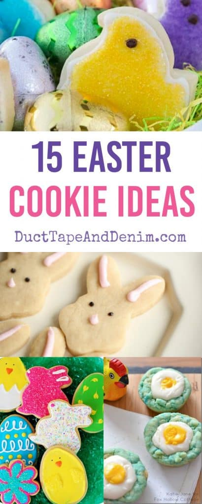 15 sweet & delicious Easter cookie ideas | DuctTapeAndDenim.com