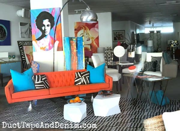 Mid century modern furniture store in Palm Springs | DuctTapeAndDenim.com