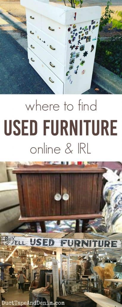 Where to find used furniture online and in real life | DuctTapeAndDenim.com