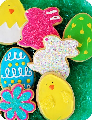 easter cut out cookies
