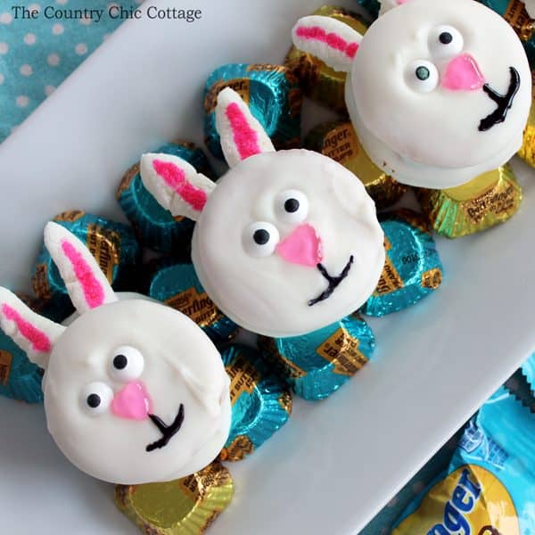 no bake easter bunny cookies