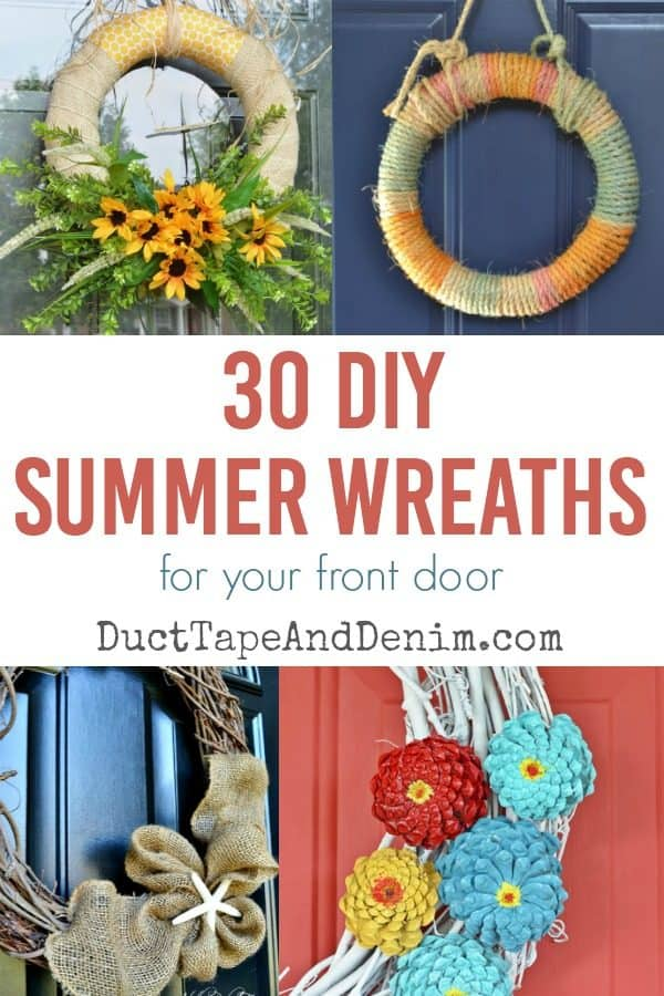 30 DIY summer wreaths to make for your front door | DuctTapeAndDenim.com