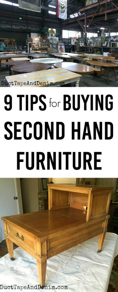 Tips for buying second hand furniture | DuctTapeAndDenim.com