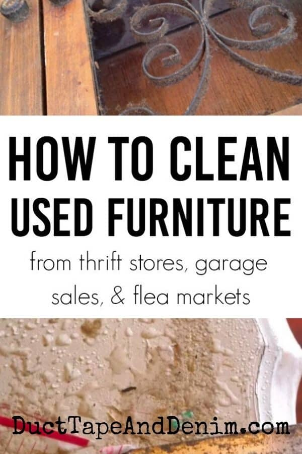 how to clean used furniture, collage 1