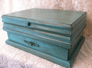 Glazed jewelry box makeover