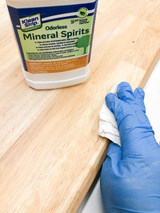 how to clean furniture mineral spirits