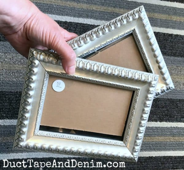 BEFORE painting thrift store frames | DuctTapeAndDenim.com