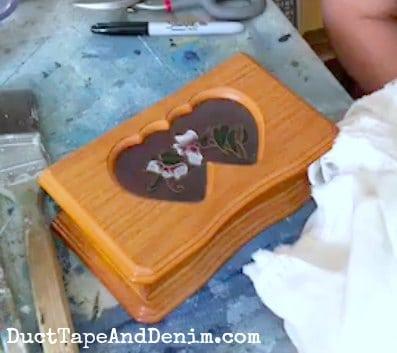 BEFORE painting, thrift store jewelry box