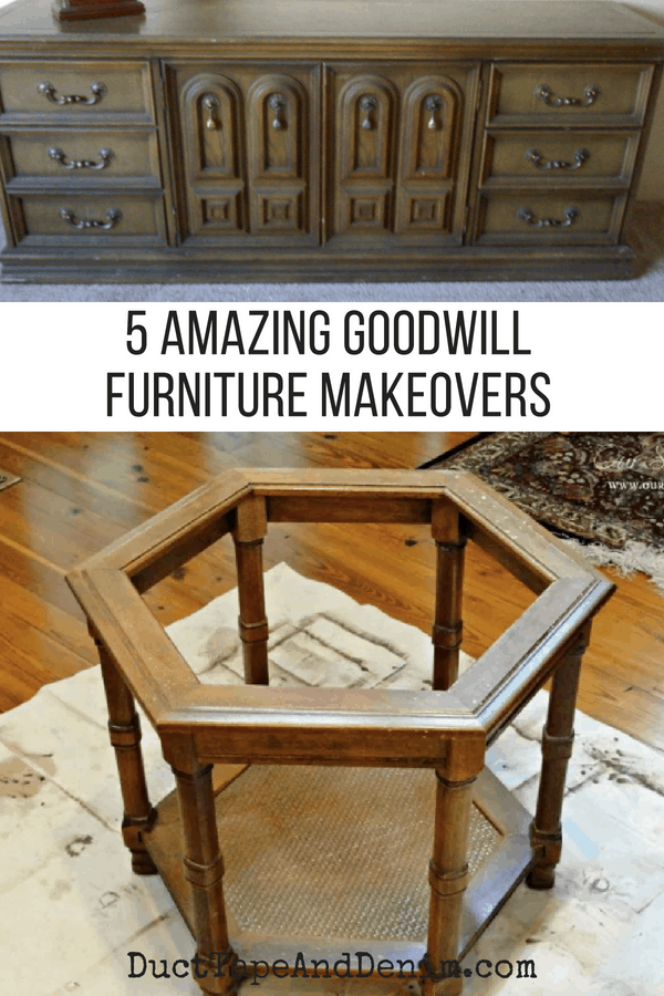 5 amazing Goodwill furniture makeovers on DuctTapeAndDenim.com