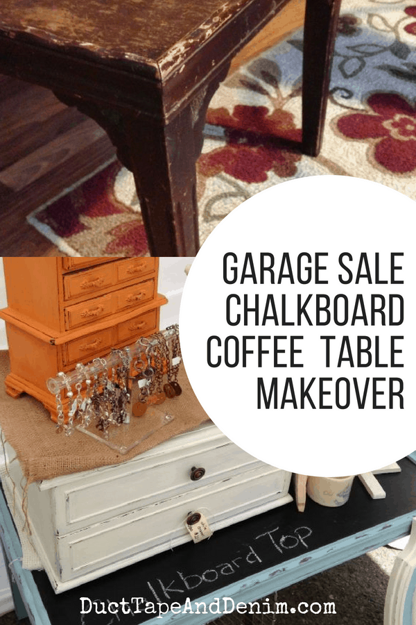 Chalkboard Coffee Table collage
