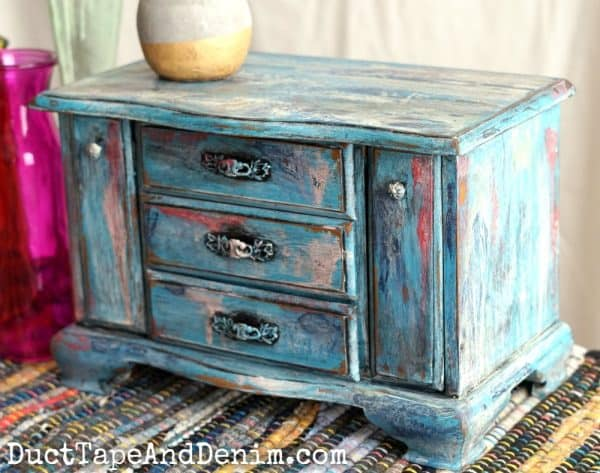 Boho painted jewelry box | PicMonkey Overlay