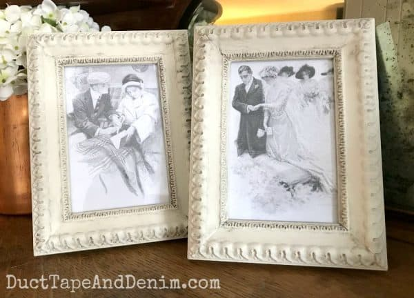 Finished frames with Country Chic Paint and Antiquing Dust | DuctTapeAndDenim.com