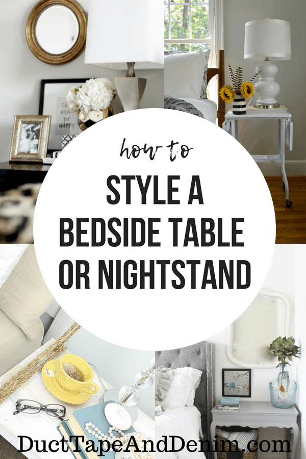 How to style a bedside table.