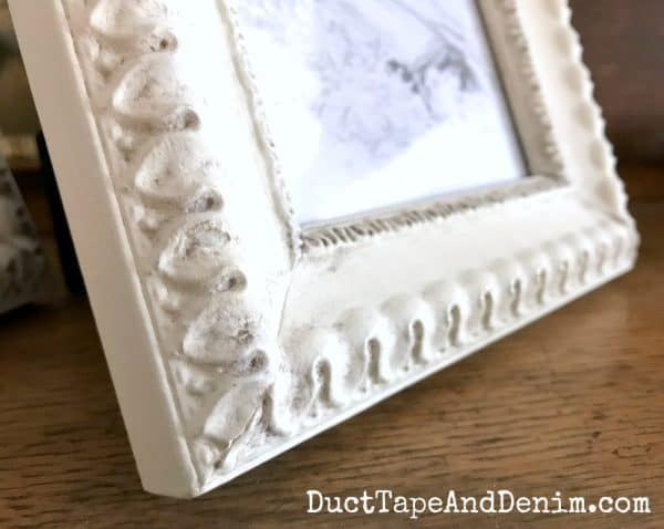 Painted frames with antiquing | DuctTapeAndDenim.com