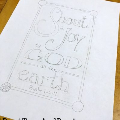Bible Verse Coloring Page, Psalm 66:11, Shout for Joy!