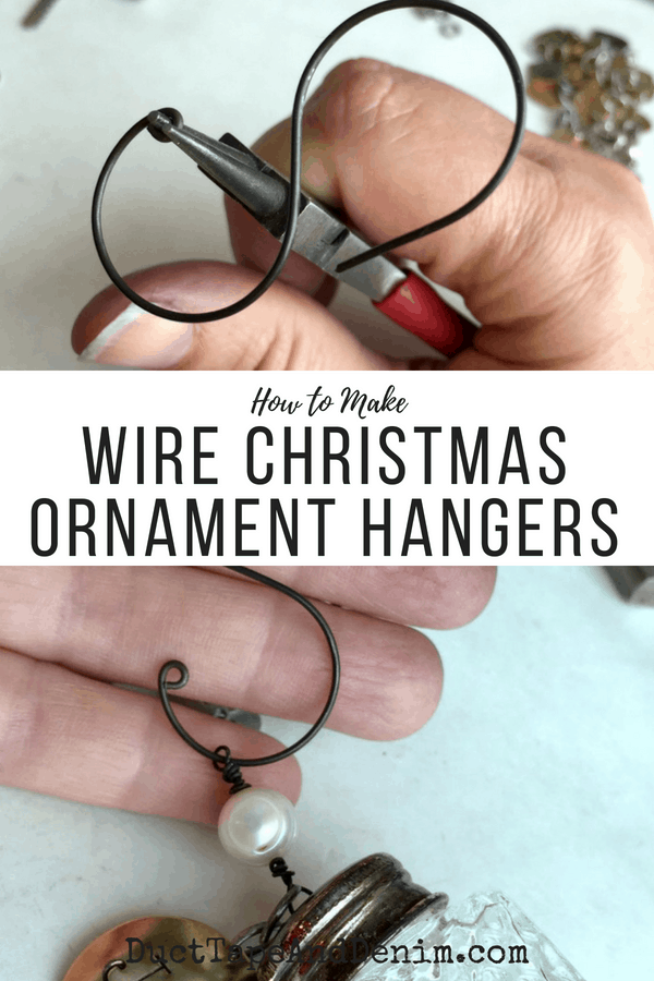 How to Make Wire Christmas Ornament Hangers, collage 1