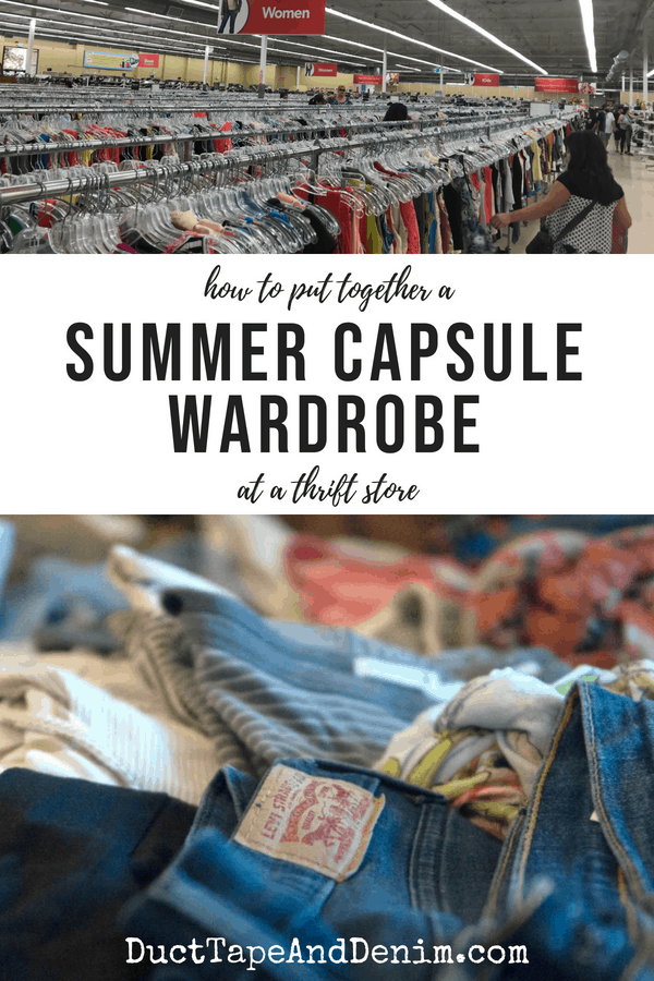 How to Put Together a Summer Capsule Wardrobe at a Thrift Store
