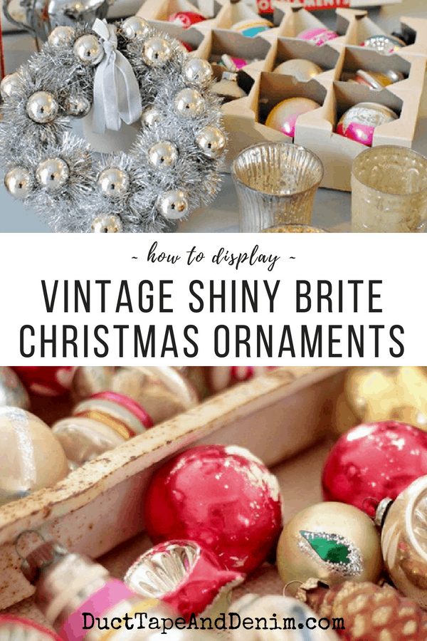 How to display Shiny Brite ornaments, collage 2