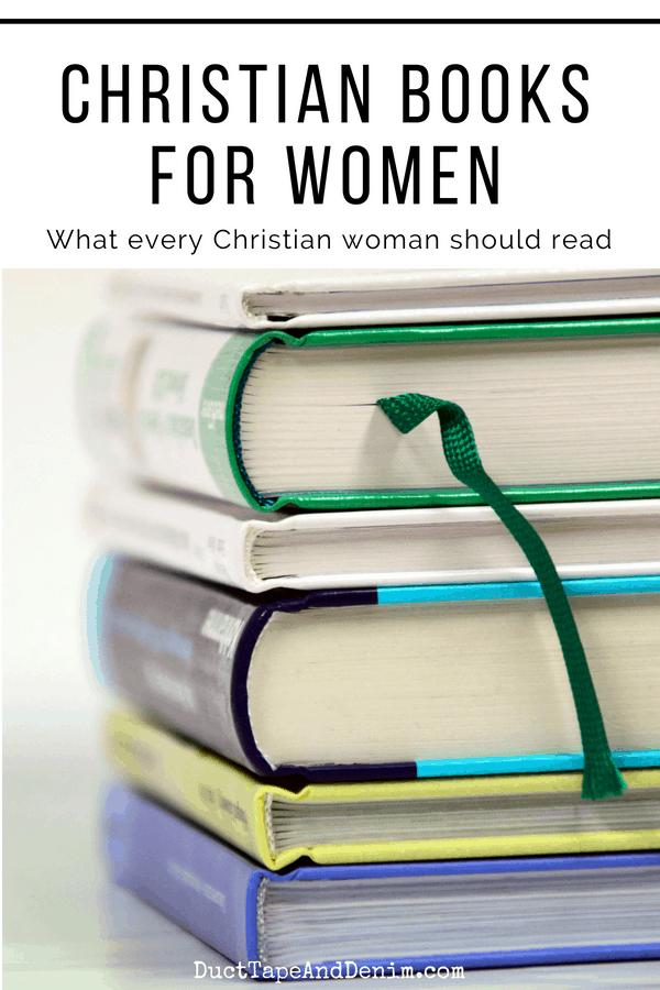 stack of books - Christian books for women