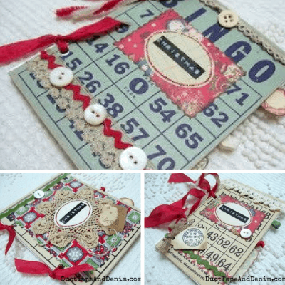 How to Make Vintage Bingo Card Christmas Albums