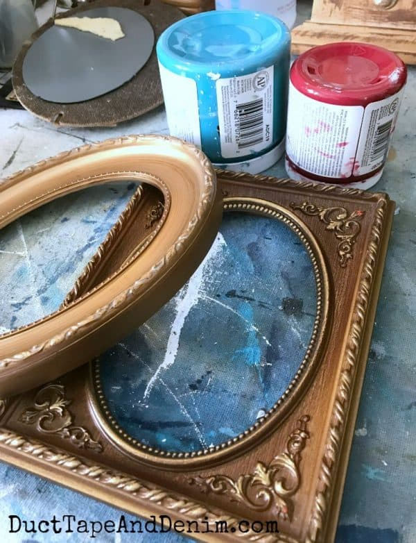 Before painting my thrift store frames | DuctTapeAndDenim.com