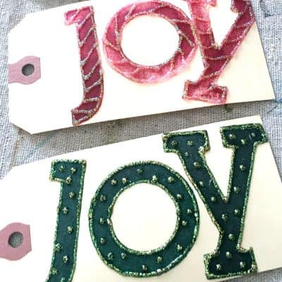 Easy Hand-Stamped JOY Holiday Gift Tags