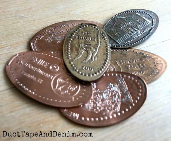 a pile of pressed pennies