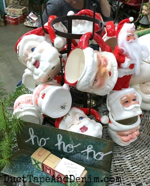 Santa mugs, ho ho ho | DuctTapeAndDenim.com
