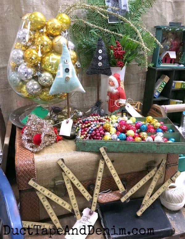 Vintage Christmas display at Mes Amis Noel | DuctTapeAndDenim.com