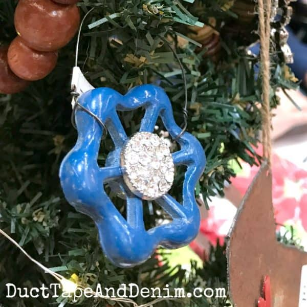 Vintage faucet handle Christmas ornament