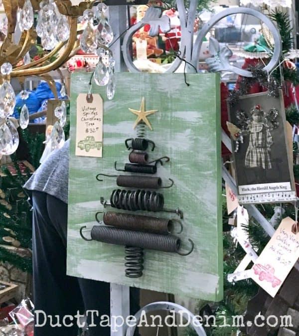 Vintage spring Christmas tree | DuctTapeAndDenim.com