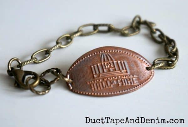 pro football hall of fame penny bracelet